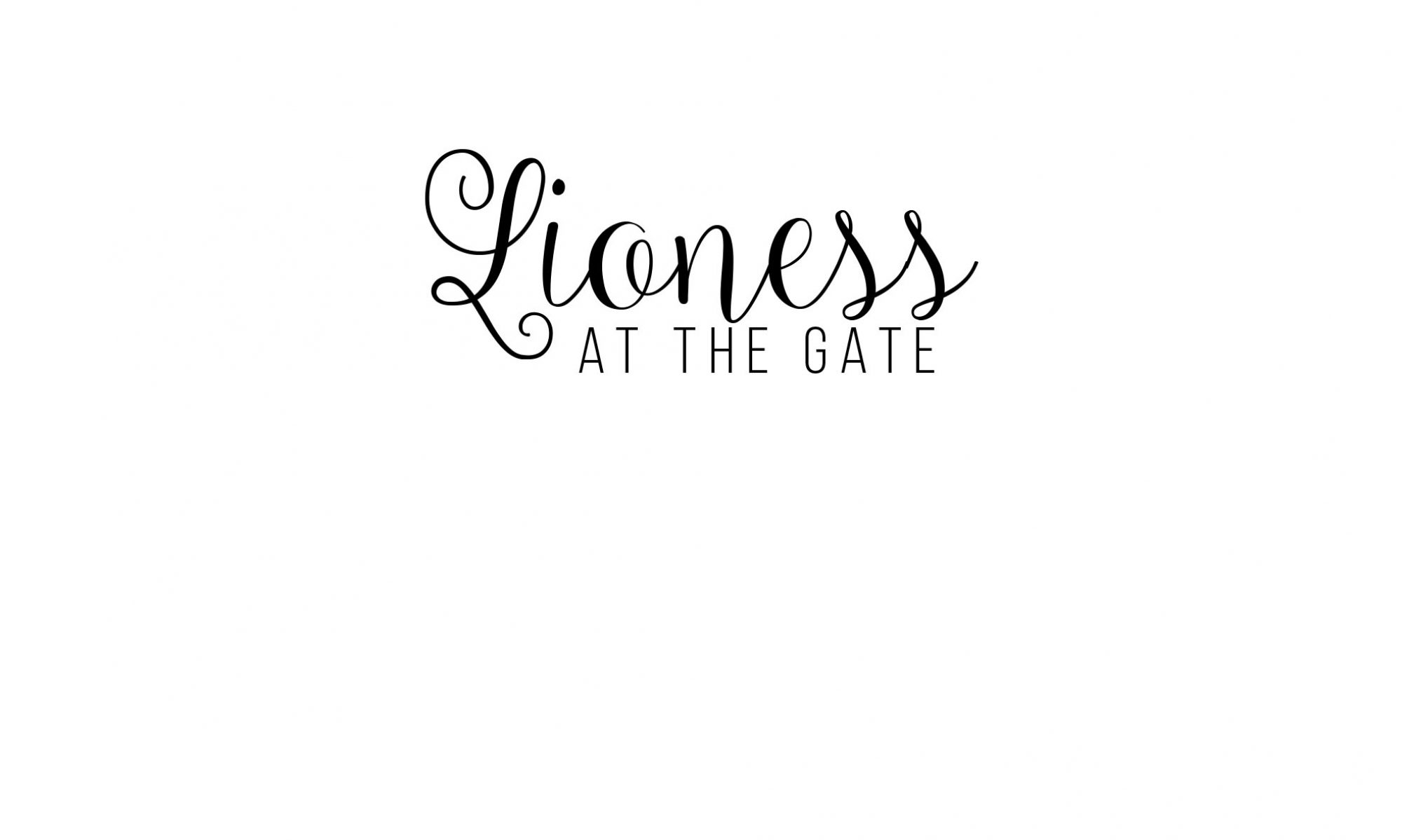 lioness at the gate